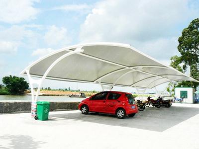 自行车棚膜结构安装费用,钢结构工程报价
