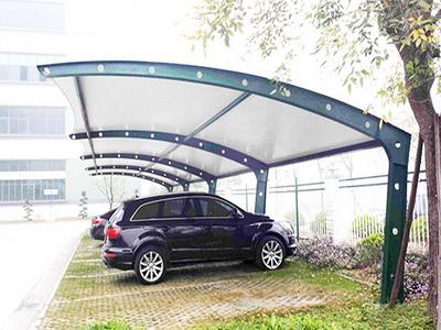 政府机构停车场膜结构安装,停车场钢结构报价