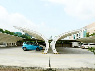 膜结构车棚改造费用,膜结构停车棚施工