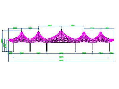 帽口膜结构设计CAD 图纸