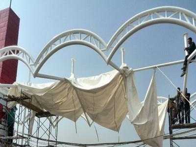 膜结构施工安装