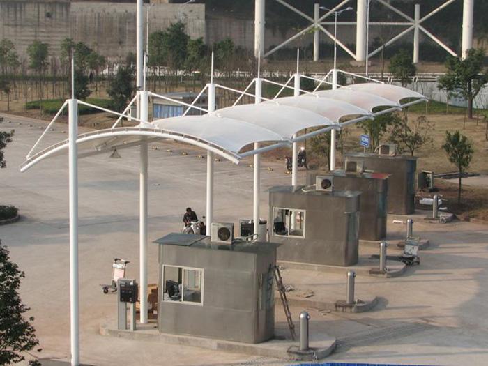 收费站岗亭膜结构,收费站膜结构报价,收费站膜结构加工